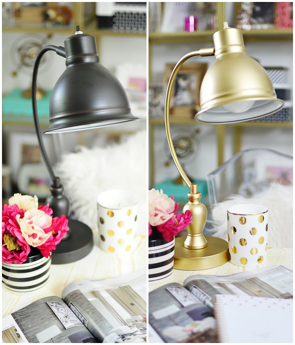 Make store bought lamps look like their expensive counterparts with some spray paint. This lamp could easily sell for 3 times its price!
