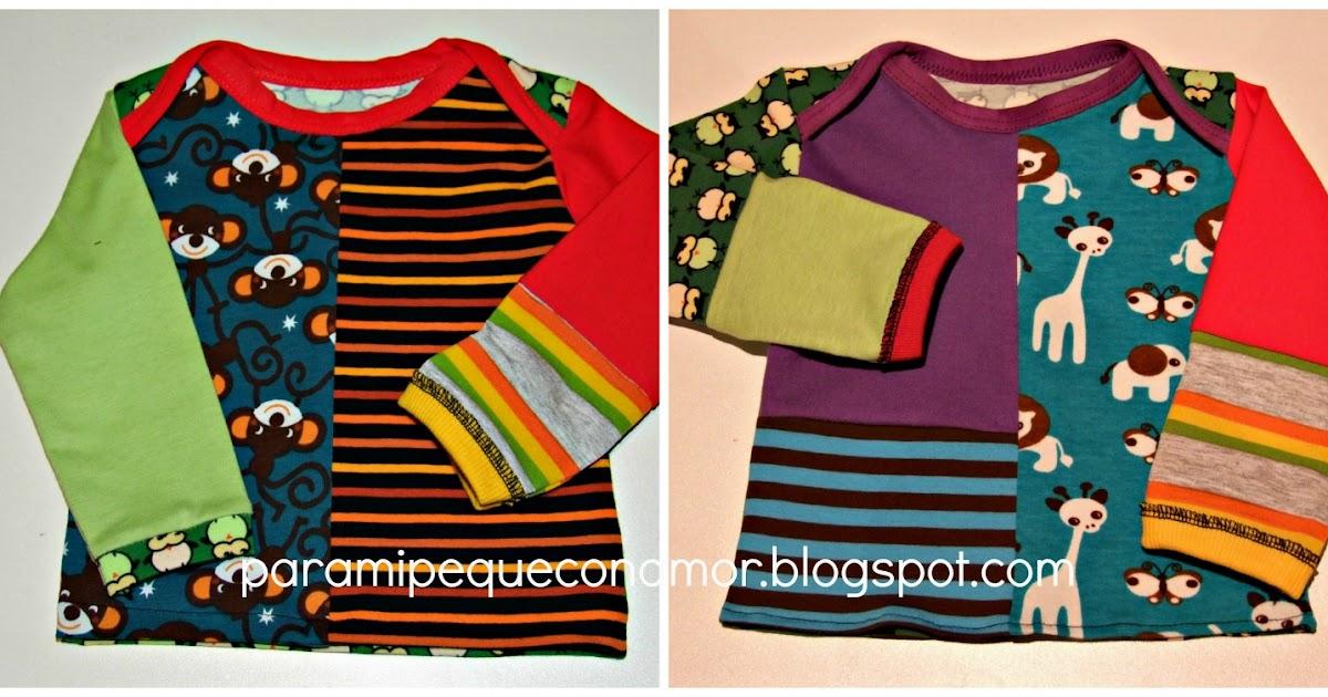 Camiseta bebé cuello tipo sobre (enlace a tutorial y patrón)