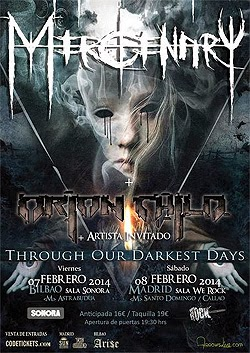 Conciertos de Mercenary en Madrid y Bilbao en febrero 2014