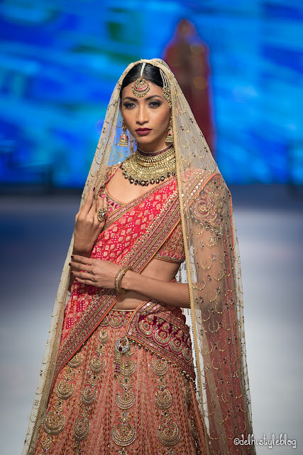 Swarovski Crystal Golden Shadow Tarun Tahiliani IBFW2015