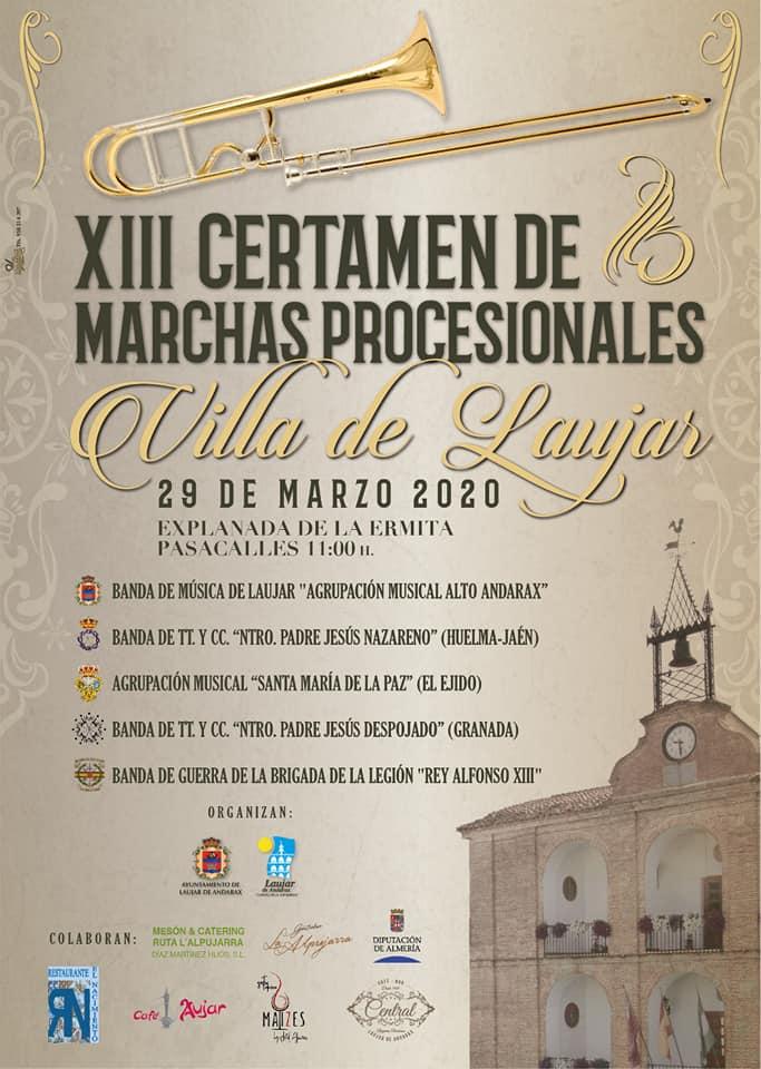 DOMINGO 29 MARZO 2020. XII CERTAMEN VILLA DE LAUJAR (ALMERÍA)