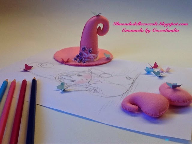modello, elfo, folletto,feltro,pannolenci,handmade,disegno.