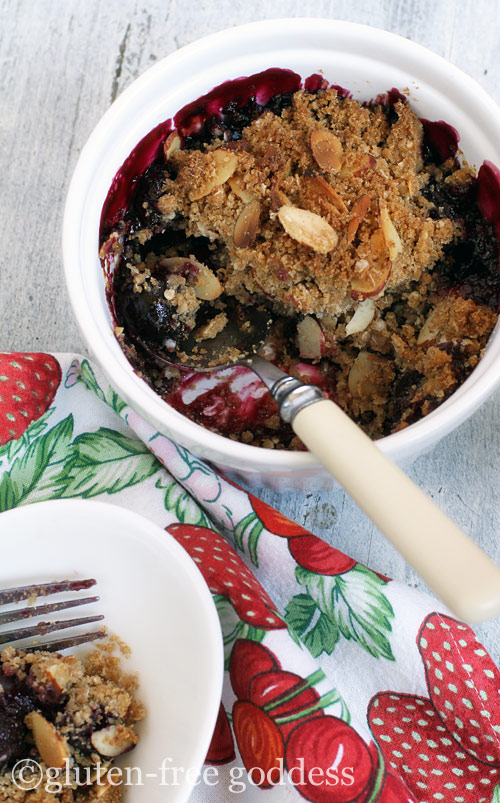 Gluten-Free Cherry Almond Crisp