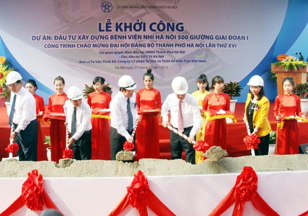 Lễ khởi công bệnh viện Nhi Hà Nội