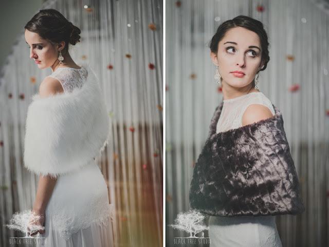 Etola ślubna dla Panny Młodej na zimowy ślub.