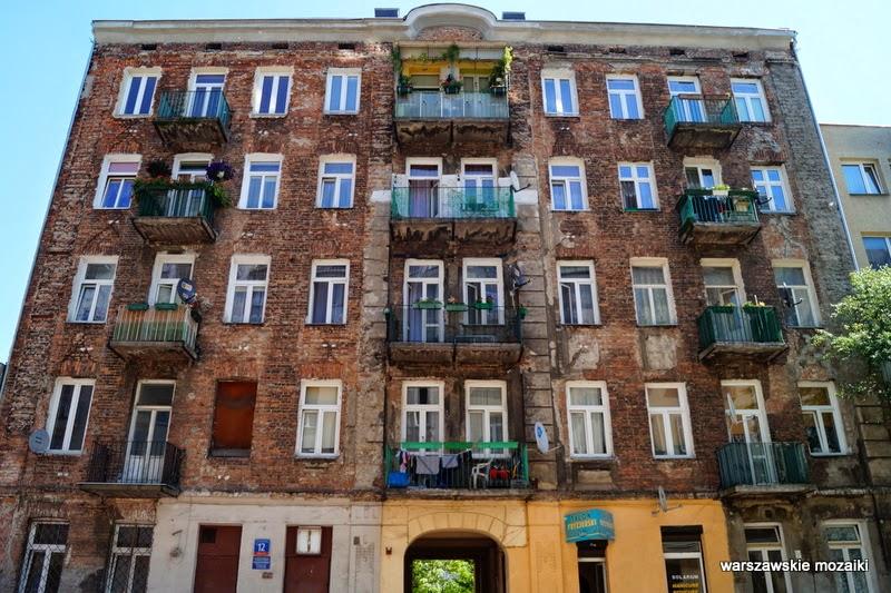 Warszawa Praga Północ warszawskie mozaiki Szmulki cegła