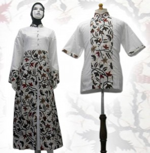 Model baju batik Muslim 01d