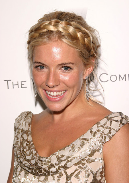Celebrity Sienna Miller's Braided Updos