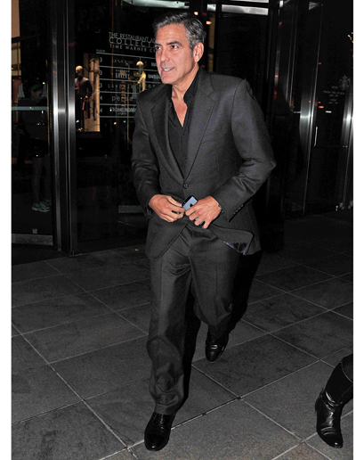 The ever cool and politically correct george clooney