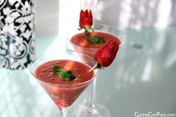 Gazpacho de Fresas - Receta paso a paso