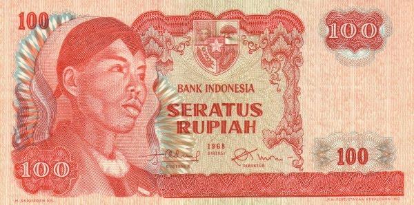 Rp100 tahun 1968