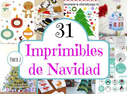31 Imprimibles de Navidad (Parte 2) - Mundo de Rukkia