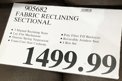 Deal for the Motion Sectional with Three Recliners at Costco