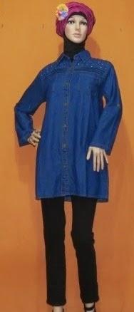 Model Blouse Jeans Fashion AJ943