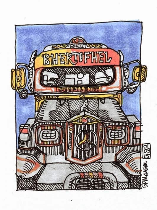 Jeepney sketch - Manila