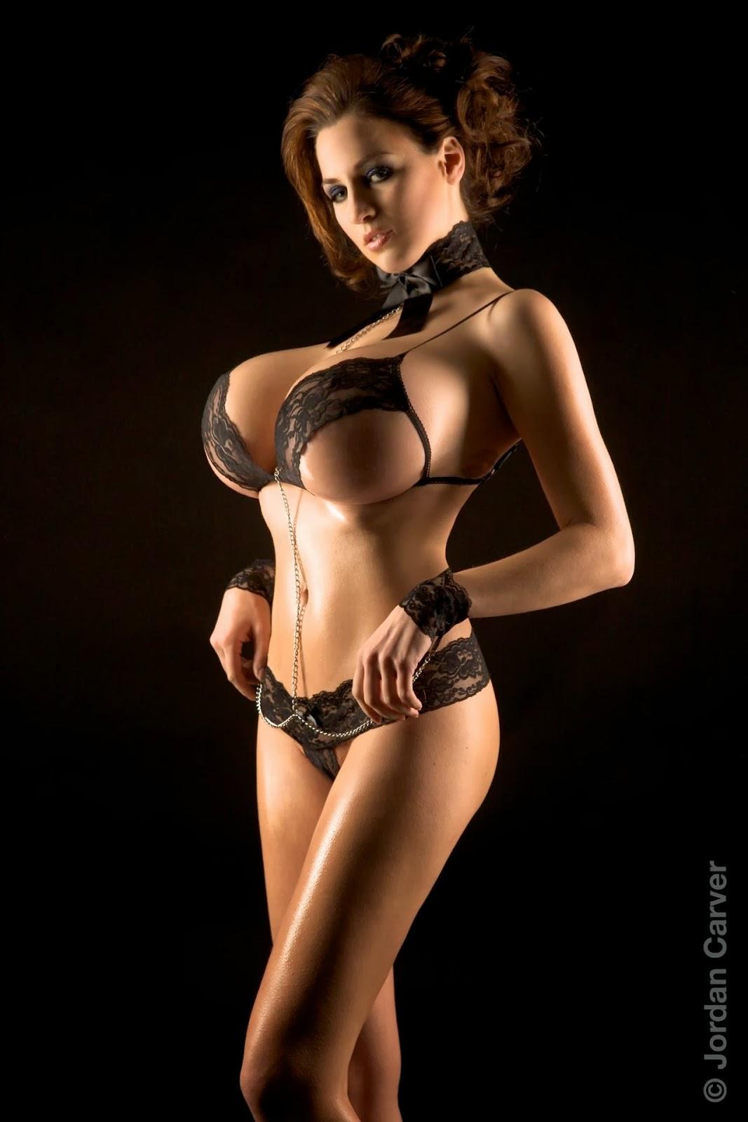 black Big boobs bikini