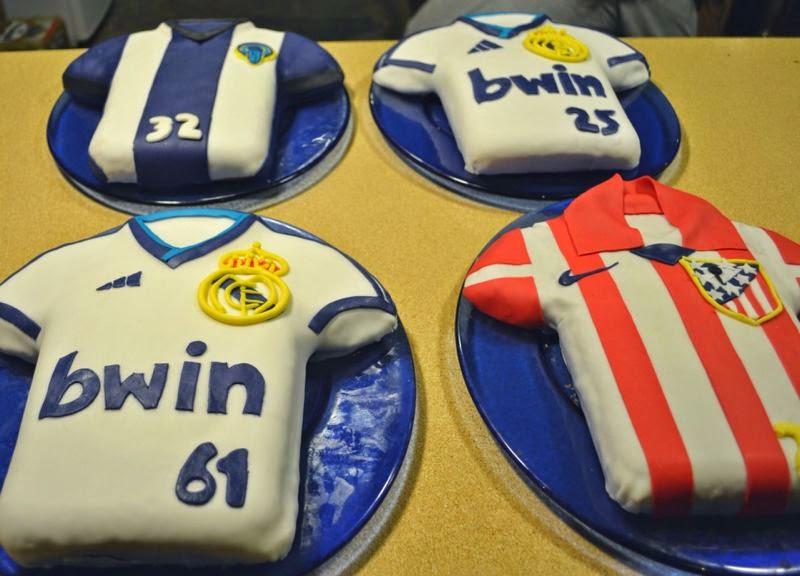 tarta, fondant, Real Madrid, Atletico de Madrid, Hercules, tartas fondant