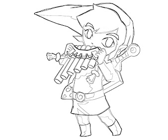 #3 Link Coloring Page