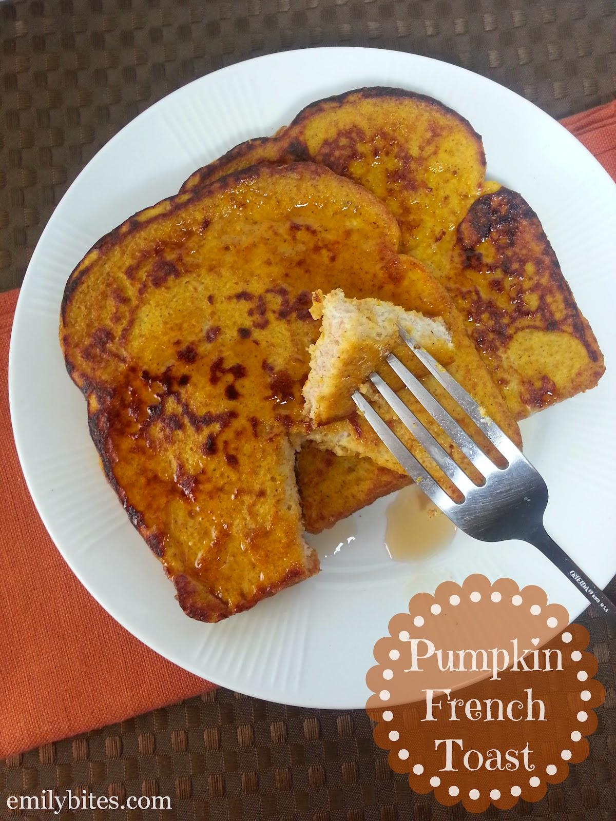 Pumpkin French Toast - Emily Bites