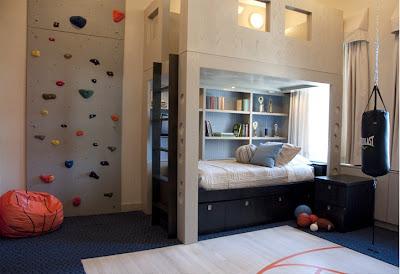 dormitorio dos niños deportistas
