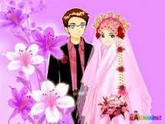 Gambar Kartun Muslim Muslimah romantis