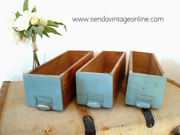 Kp tienda vintage online cajas de madera para decorar ref f16 - Cajas de madera para decorar ...