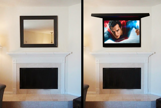 Frame the TV with Art or Mirror   Hide TV Solutions