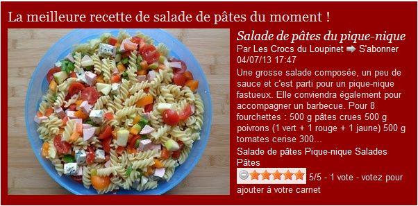 les crocs du loupinet meilleure recette de salade de p 226 tes du moment