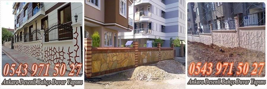 Çalışmak gerekmektedir bahçe duvarında desenli dekoratif ve