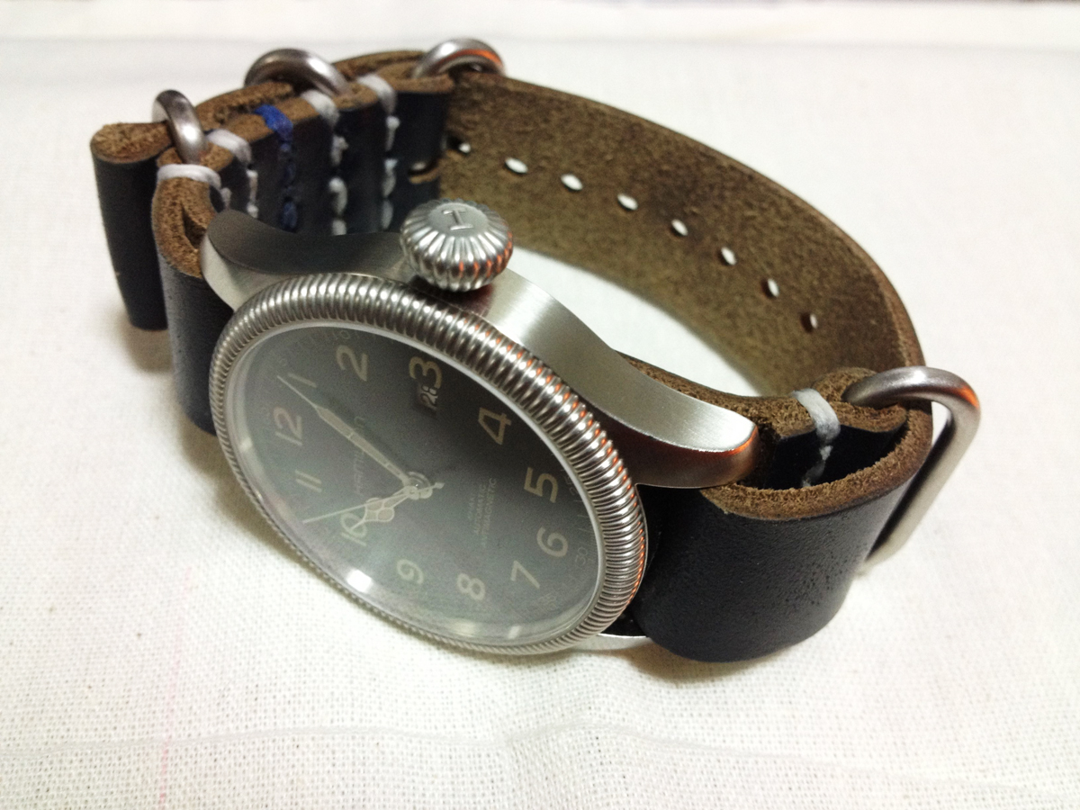 HELLBRAND LEATHERWORKS Leather NATO Watch Strap