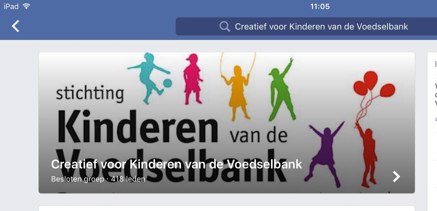 Creatief voor kinderen van de voedselbank