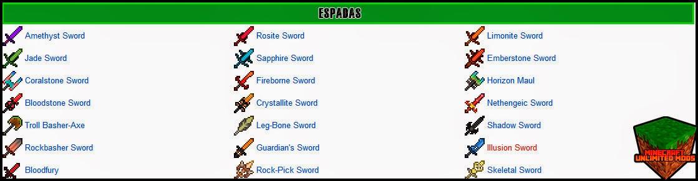 Eternal Isles Mod espadas