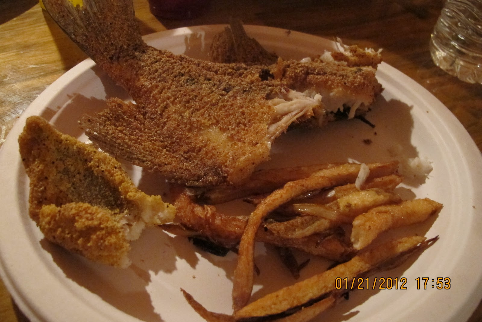 Prunepicker fish fry at skeet 39 s retreat for What to eat with fried fish