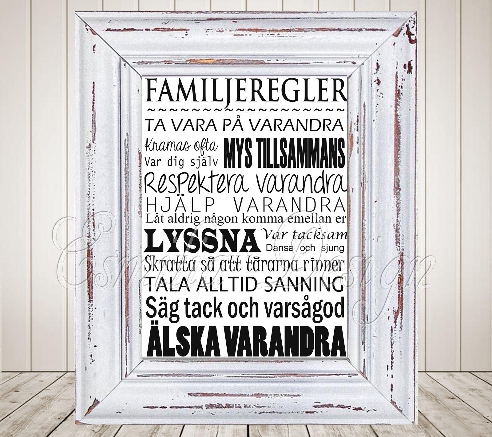 Text Bilder till Tavla