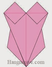 Bước 11: Hoàn thành cách xếp áo bơi liền mảnh bằng giấy theo phong cách origami.