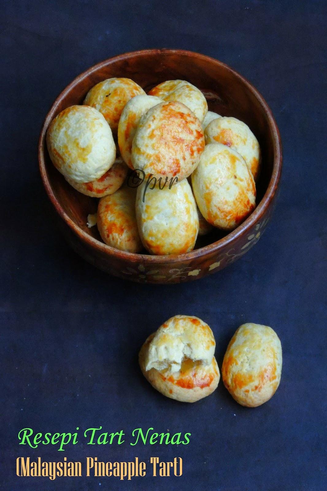 Pineapple tart cookies,Malaysian Pineapple Tart
