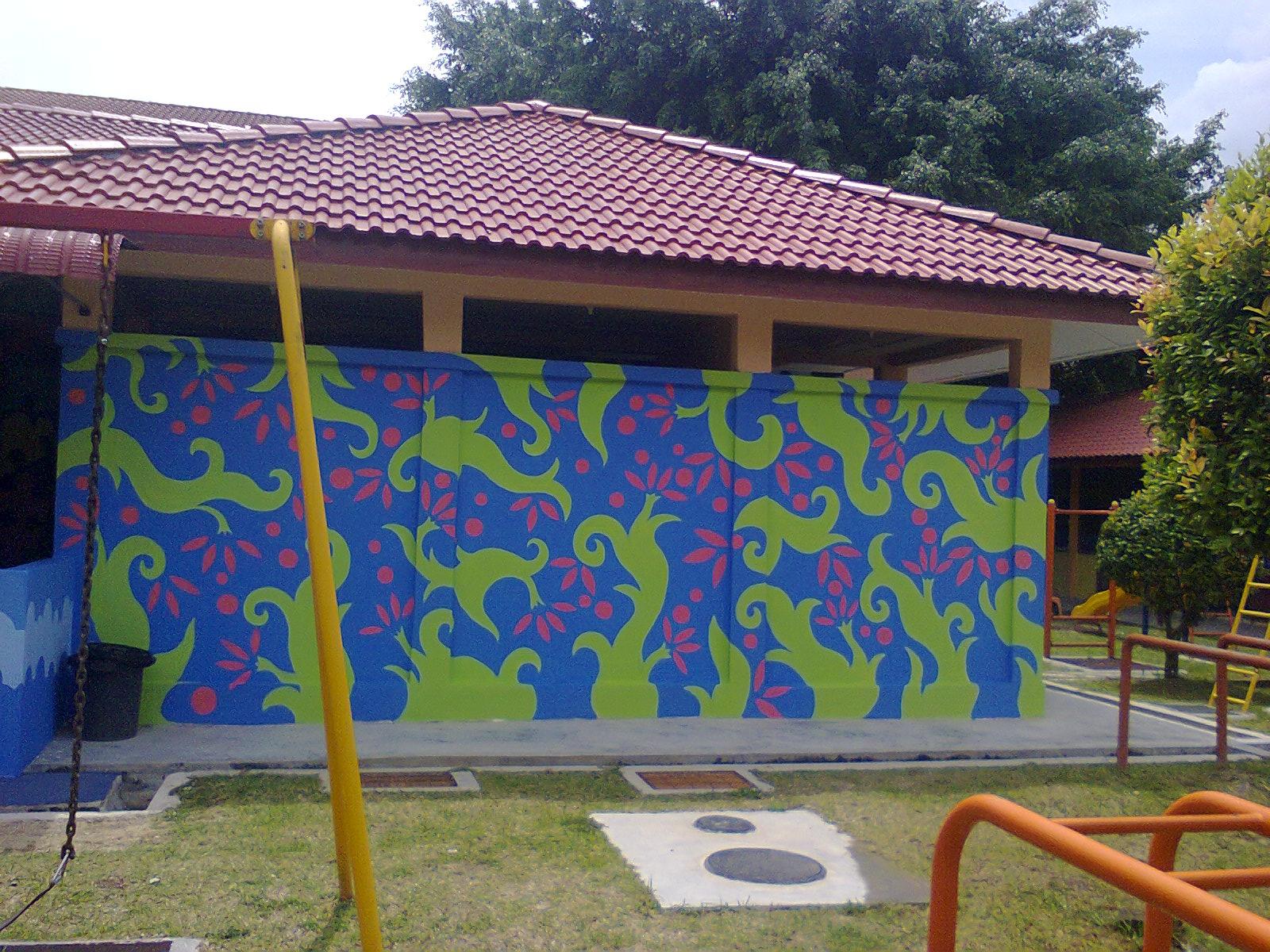 Hayat paintmaster october 2012 for Contoh lukisan mural tadika