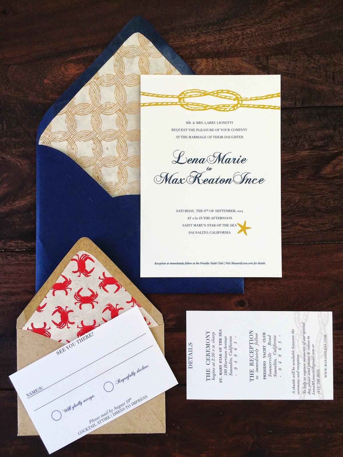Kelly Moran | Entry Level Adulthood: DIY Nautical Wedding Invitation ...