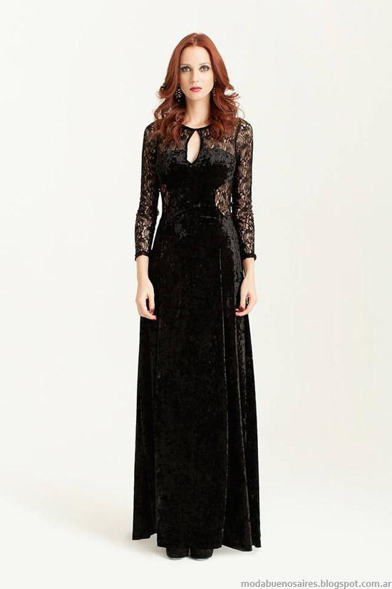 Silvina Ledesma otoño invierno 2014 moda vestidos de fiesta.