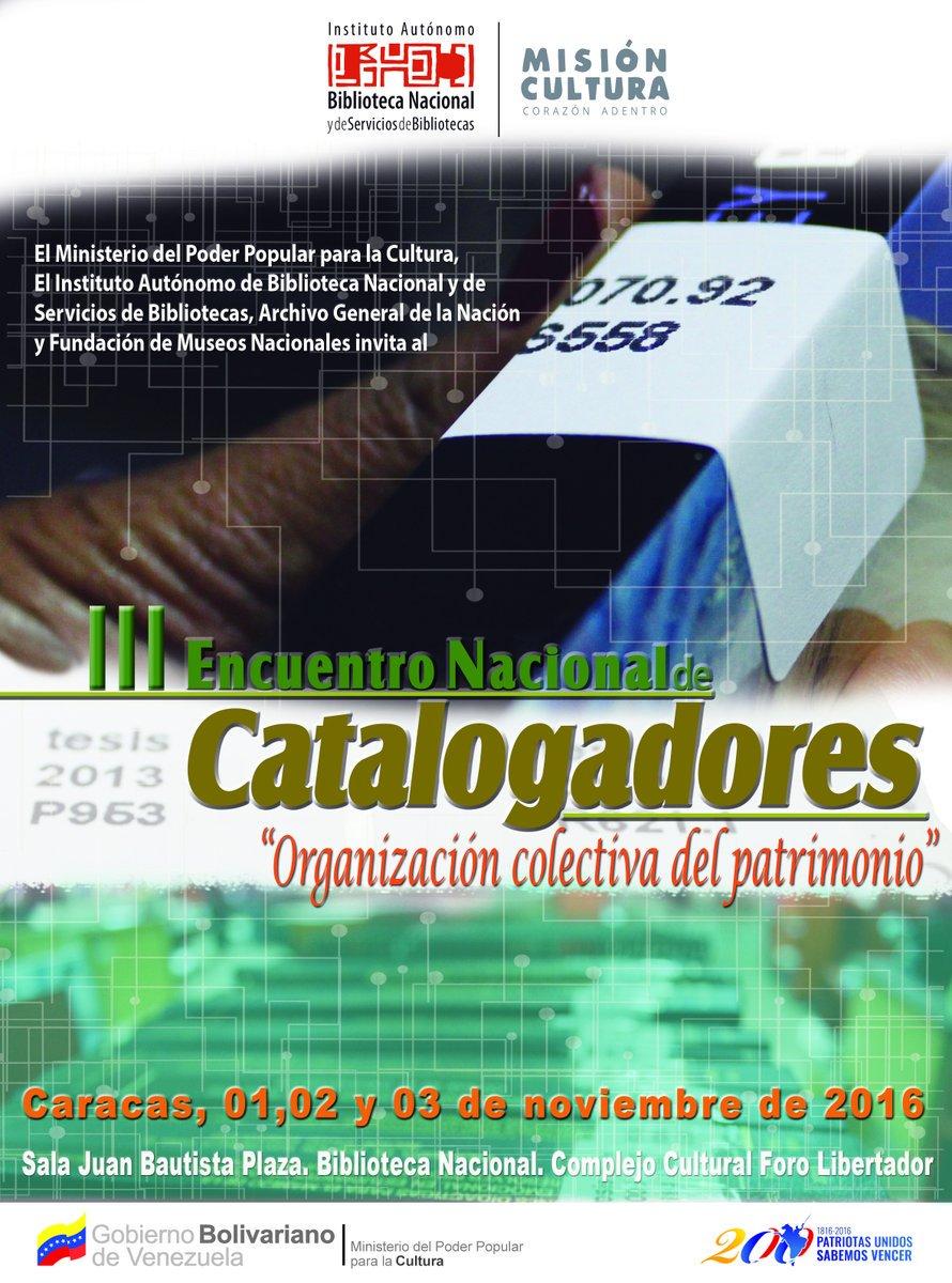 III Encuentro de Catalogadores