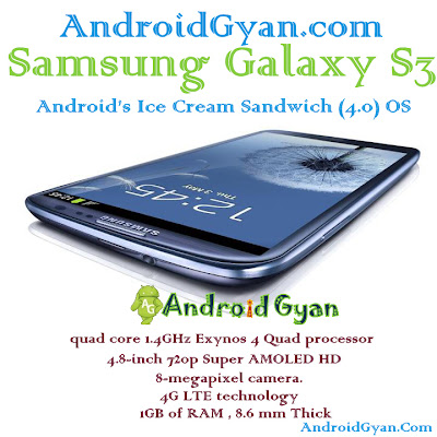Galaxy s3 quad core 1.4GHz Exynos 4 Quad processor