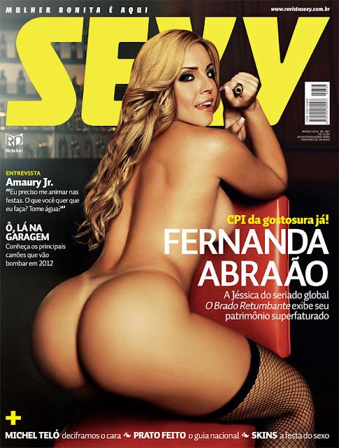 Confira as fotos da Jéssica de o Brado Returbante, Fernanda Abraão, capa da Sexy de março de 2012!