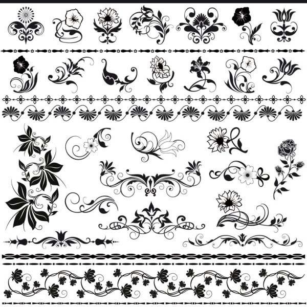 Pola motif pattern untuk seni mural tembok