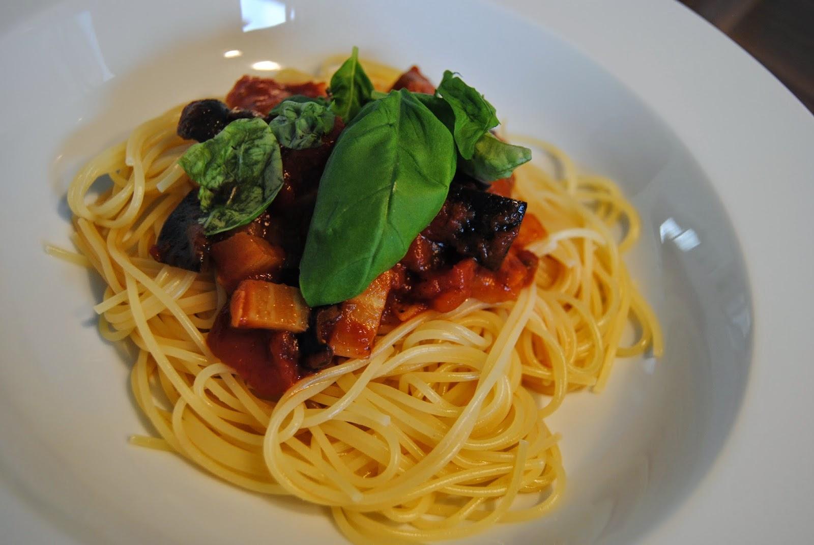 Rezept Spaghetti melanzana