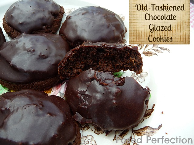 Posed Perfection: Chocolate Glazed Cookies