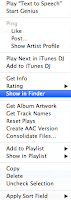 Select Show in Finder from the drop-down menu.