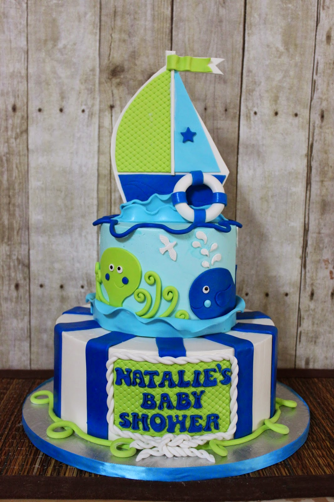 sandra 39 s cakes nautical baby shower cake