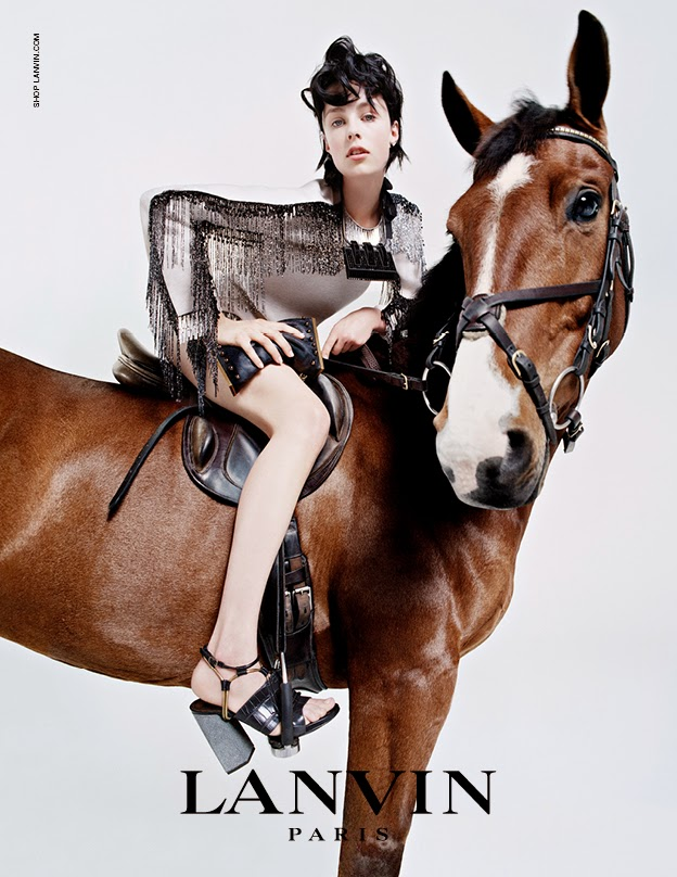 Lanvin Edie Campbell campaign AW14