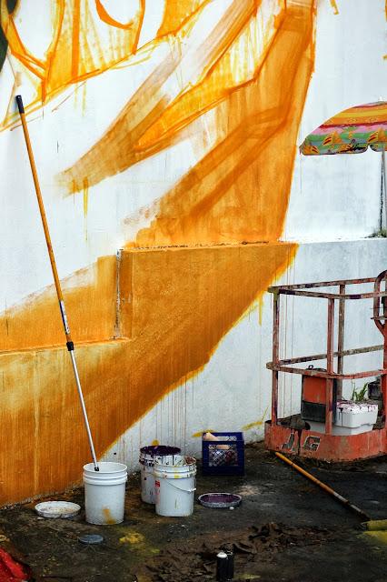 Work In Progress By Chilean Artist INTI For Los Muros Hablan '13 In Puerto Rico. 2