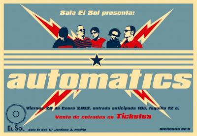 AUTOMATICS en concierto en Sal Sol 25 de Enero Madrid